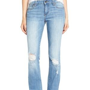 Kut from the Kloth distressed boot cut jeans 6